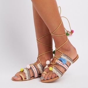 3/$15 Charlotte Russe Lace Up Sandals